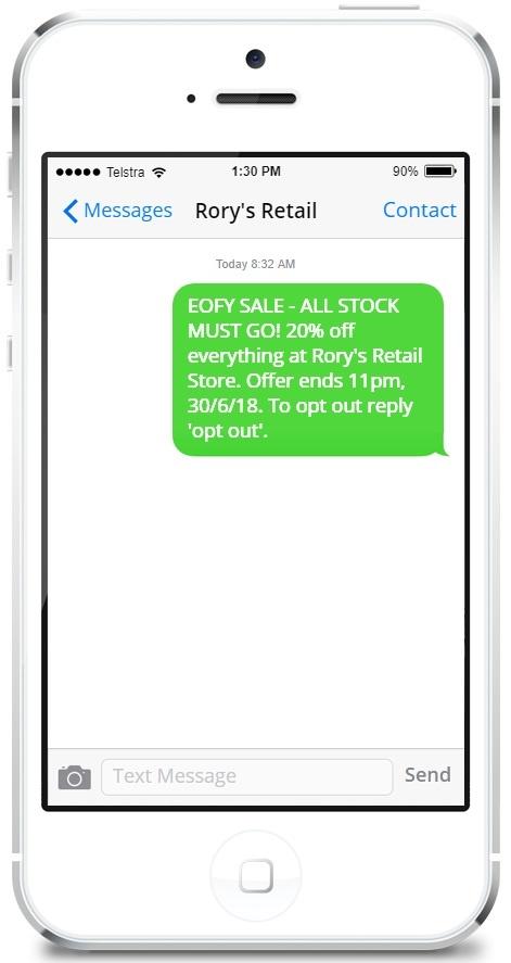 EOFY SMS