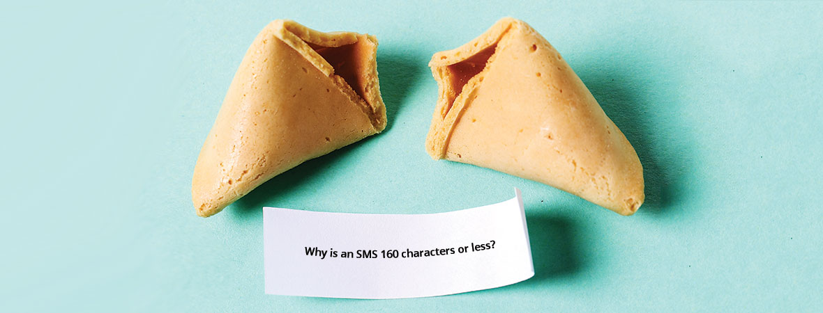 Why is an SMS 160 characters?